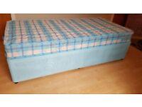 Single Divan Bed With Storage & Mattress