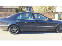 MERCEDES BENZ 2001 S500 AUTO LPG CONVERTED SPARES REPAIRS STARTS DRIVES CASH COLLECT TODAY ONLY !