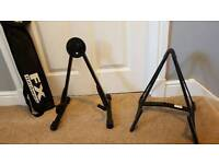 2 x Guitar Stand and Guitar Book Stand