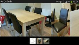 Dining table good condition with 4 brown chairs