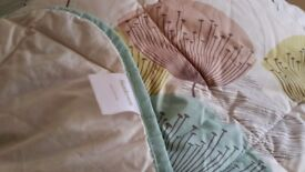Double bed throw/cover by Sanderson, perfect condition only been used as display.
