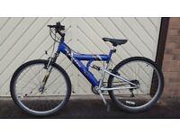 Unisex blue bike.