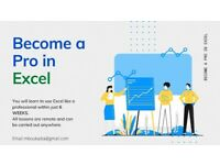 Become a Pro In Excel in 6 weeks | Remote Lessons | £30 per lesson | Training by Professional