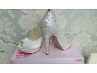Pink Paradox Bridal Shoes Size 6 (39)