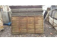 Garden Fence Panel Waney/Overlap 3 ft 6 ins x 60