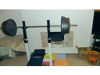 weight bench and 130kg iron weights