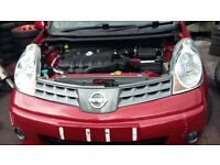 nissan note front wings. 07 plate