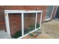 Large pvc double glased window
