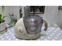 Moulinex Ovatio 2 food processor with citrus press and fruit juicer attachments