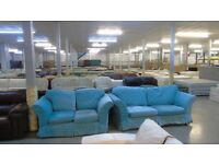 PRE OWNED 3 Seater + 2 Seater with Teal Loose Covers