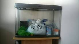 64 Litre Aquarium | Panoramic View | With Cabinet Base | And basic equipment