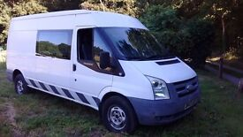 Ford Transit 2.4 TDCi 350 LWB Medium Roof , Welfare, Mess Unit , 8 Seats