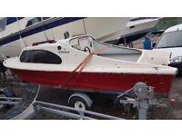 Shetland 535 boat with good running 28hp mariner