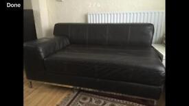Leather Half wide sofa