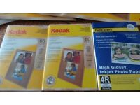 "Kodak Photo Paper A4 and 6""x4"" x 7 Packs"