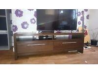 Next TV Unit Walnut, 2 drawers solid unit