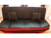 Large Leather Sofa Bed for Sale