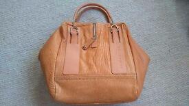 Lamarthe Paris Ladies Tote Bag, Real Leather, Tan Colour
