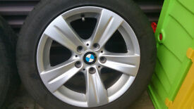 Genuine Four Alloy wheels with tires for BMW 316 , 318 ,320..e 46