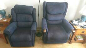 Settee and two electric arm chairs