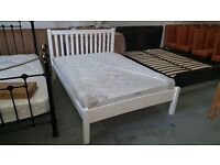 CHEAPEST ONLINE PRICE BRAND NEW John Lewis Wilton Small Double Bed & Semi Orthopaedic Matt Can/Del