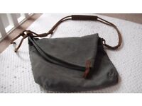 Unwanted Gift - Canvas Messenger Bag with Leather Handle