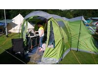 Vango icarus 400 4 man tent with footprint and porch