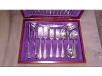 60 piece stainless steel cutlery canteen