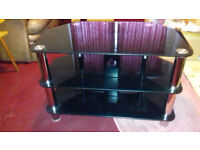 Black Glass TV Stand- Free!