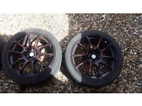 "Four 18"" 5/100 wheels and tyres VW/Audi"