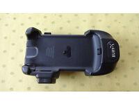 Blackberry in car phone cradle