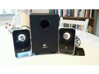Logitech LS21 Speakers - computer, tv, mobile phone use w/ subwoofer
