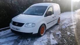 vw caddy 2005 lowered carpeted bbs great van