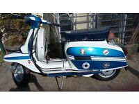 1976 Lambretta GP 150 INDIAN scooter excellent condition. Northern Soul themed