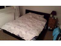 King size bed frame in black