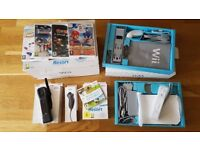 Nintendo Wii (white) with games and accessories, all boxed