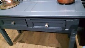 ***solid wood console table/dressing table/desk/ display table with 2 storage drawers***