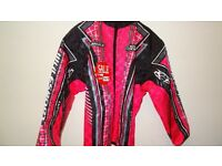 wulfsport jacket motocross motox quad youth junior kids pink black size 34 approx age 13