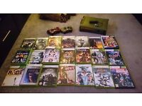 Xbox 360 Halo Edition + 30 games + 2 controllers + Kinect + accessories