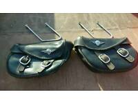 Harley Davidson leather panniers