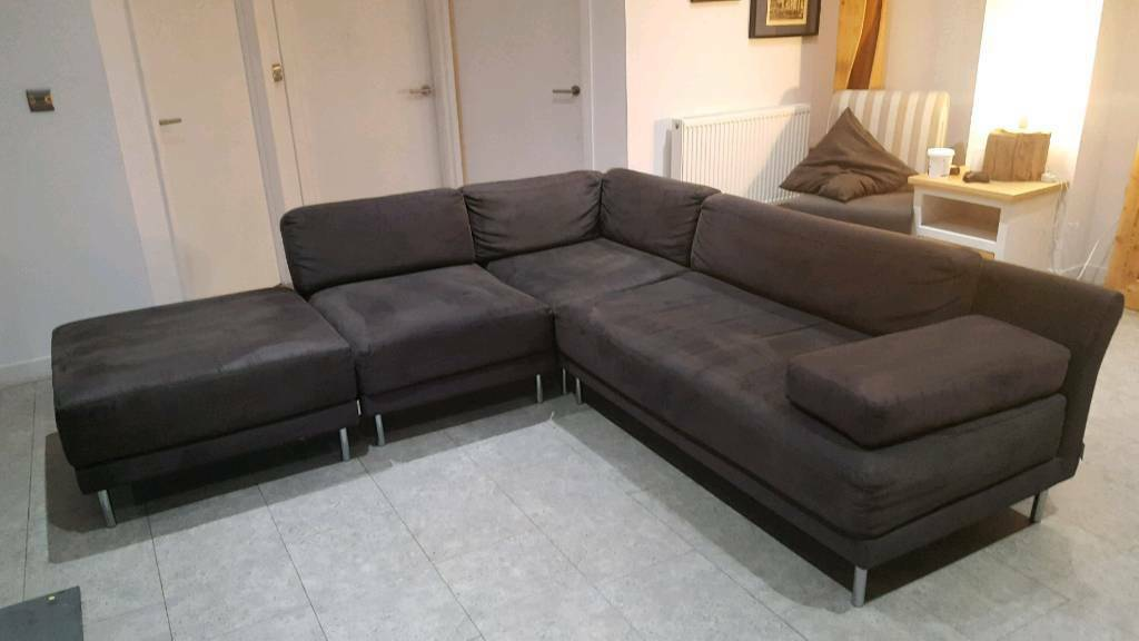 Scala Habitat Grey Modular Corner Sofa Free Delivery In