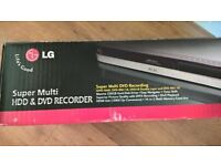 DVD Player / HDD Recorder LG Brand, as new.