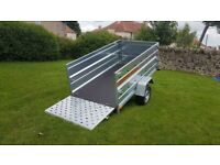 BRAND NEW MODEL 7.7x4.2 SINGLE AXLE/ DOUBLE BOARDSIDE WITH A RAMP TRAILER