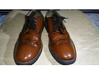 Mens Next Glossy Leather Brown or Dark Tan Borges fir sale Uk size 9 EU 43