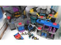 Imaginext Batcaves Gotham Jail Light Up Batmobile Missiles & Figures