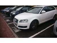 2009 White Audi A3 with Full Red Leather Interior - 40k miles excellent runner - great on petrol