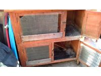 Rabbit hutch 2 story + run