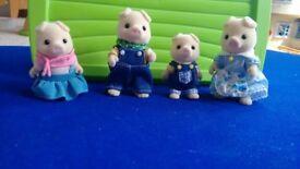Sylvanian families- Pig family of four -From No smoking No pets home