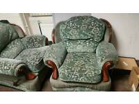 3 seater and 2 single seater sofa fabric
