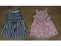 Girls H&M summer dresses 1-2 years